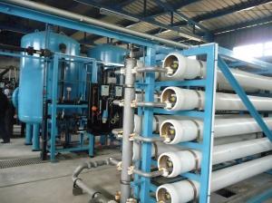 Desalination plant in Gaza Strip.