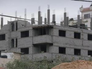 Typical concrete construction in Gaza.