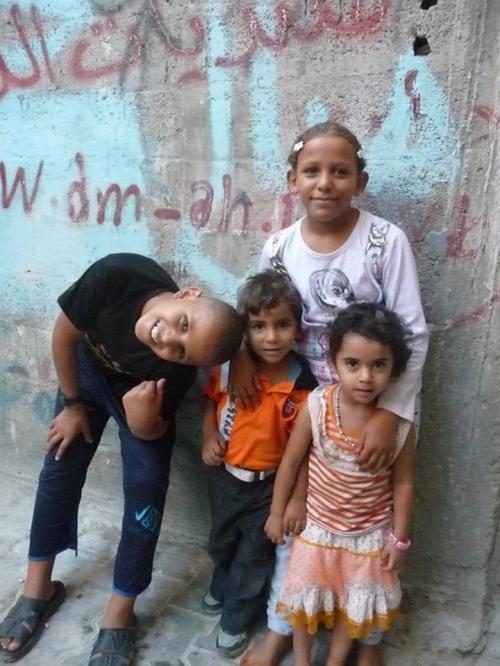 Children in Jabalyia refugee camp.