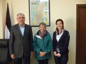 Palestinian Ambassador Dr. Barakat El Farra and Maissa Hidmi