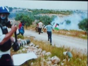 Palestinian protesters in the West Bank - FIVE BROKEN CAMERAS