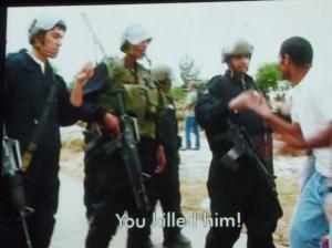 """You killed him!""  FIVE BROKEN CAMERAS"