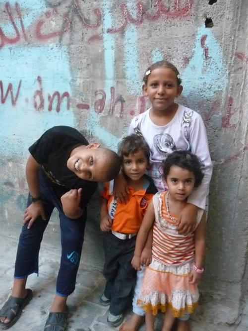 Children in Jabalia Refugee Camp in Gaza.