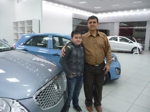 Amin Halis with nephewAl-Halis Motor Trade Co.