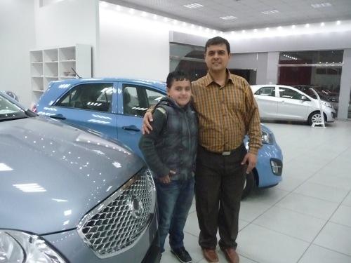 Amin Halis with nephewAl-Halis Motor Trade Co.