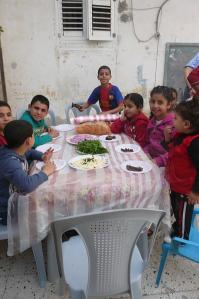 The children gobbled the food down! :-)