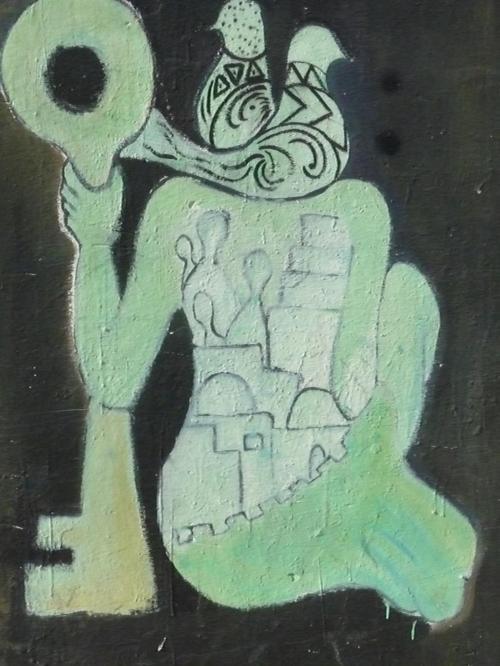 Wall mural in Gaza