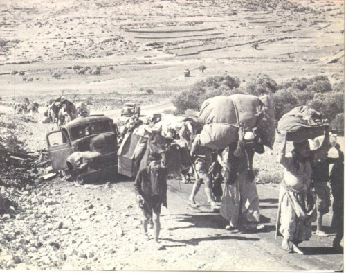 Palestinians forcefully expelled from their villages in 1948