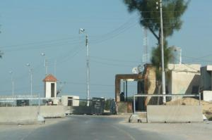 Military checkpoint in the Sinai near Al Arish