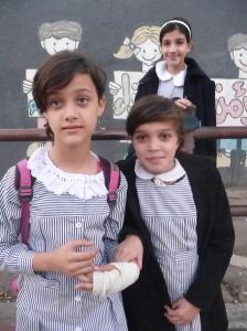 School children in Gaza City who asked me to take their photo. :-)