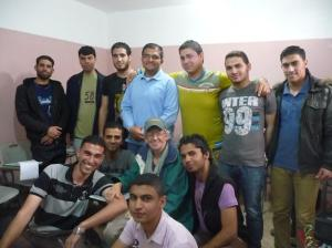 Young Palestinians learning to speak English.