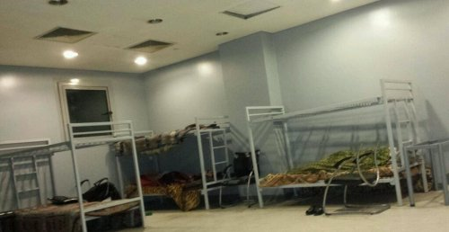 "Cairo airport holding cell for ""undesirable"" passengers, primarily Palestinians"