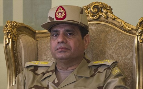 Egyptian military coup leader al-Sisi
