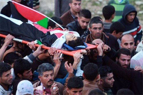 Funeral march of 14-year-old Yousef al-Shawamreh