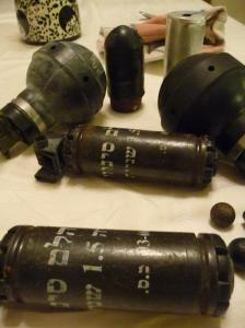 Weapons used by Israeli forces in the West Bank against peaceful protesters.