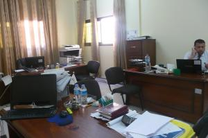 The Gaza legal aid society works from this office.