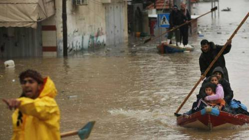 "Photo 4: The destructive impacts of Storm ""Alexa""in the Gaza Strip, following 36-hours of heavy precipitation on 10-14 December 2013."