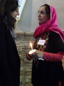 Susan Schuurman, Coordinator of the Albuquerque Peace & Justice Center with a volunteer from the Islamic Center of New Mexico