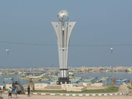 The Memorial to the Victims of the Mavi Marmara in the Gaza Seaport