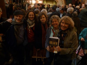 Friends at the Lensic following Max Blumenthal's presentation.