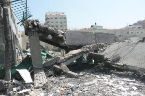 Palestine Stadium in Gaza destroyed by Israel in November 2012