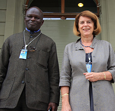 Mary McGowan Davis (USA) and Doudou Diene (Senegal)