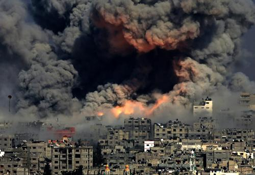 Israel is imposing collective punishment against all Gazans, attacking hospitals, schools, and power stations. (Photo: Imgur) http://fpif.org/violating-international-law-gaza/