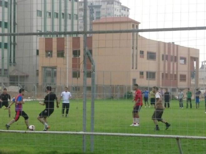 Soccer players at IUG