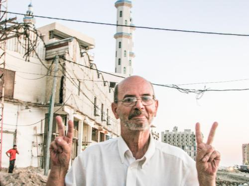 Denny Cormier from Santa Fe, New Mexico lived in Gaza during Israel's 51-day assault in July-August, 2014.