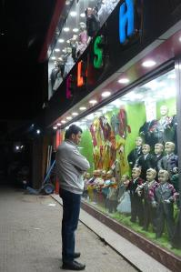A Syrian Freedom Fighter window-shopping in Cairo