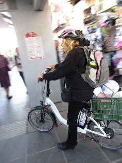 Motorized bicycles are the rage in Jerusalem