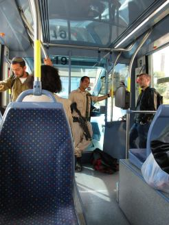 Heavily armed soldiers are everywhere in Jerusalem