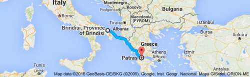 brindisi map to patras