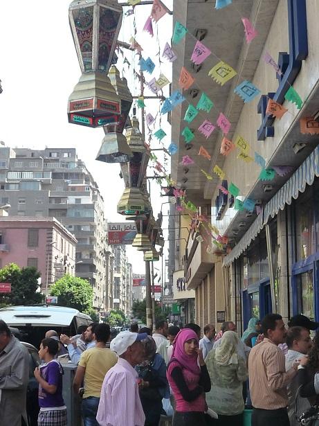 Street scene during Ramadan