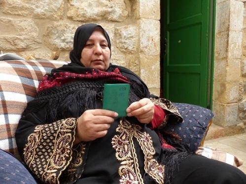 Jamila with card