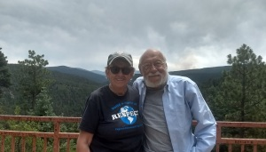 Maurice and Lora on High Road to Taos
