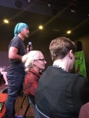 Audience member asking question 2