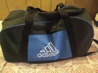 Bag of books going to Gaza
