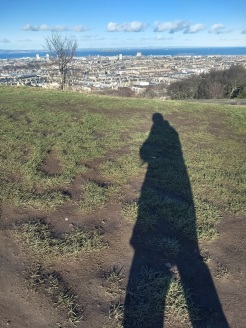 Calton Hill - my shadow