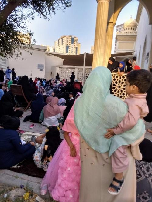 Eid al-Fitr in Sharjah women praying