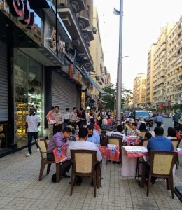 Iftar gathering in downtown Cairo 2